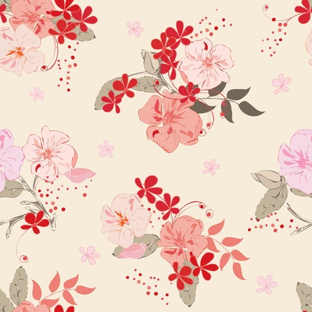 caress: Abstract floral seamless pattern background