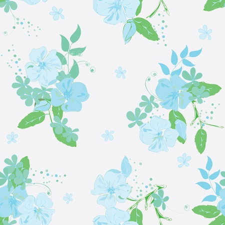 Abstract floral seamless pattern background