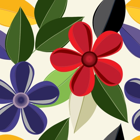 tessile: Abstract background fiore modello seamless