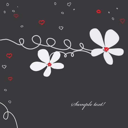 caress: Abstract caress flower background. Banner.