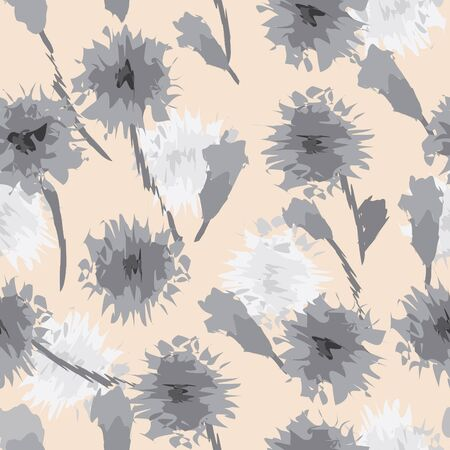 material: Abstract flower seamless pattern background