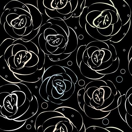 rosas negras: Sin patr�n floral Vectores