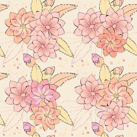 Abstract flower seamless pattern background Stock Vector - 11969326
