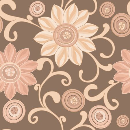 textile image: Abstract flower seamless pattern background