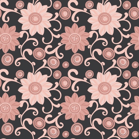 Abstract flower seamless pattern background Stock Vector - 11969328