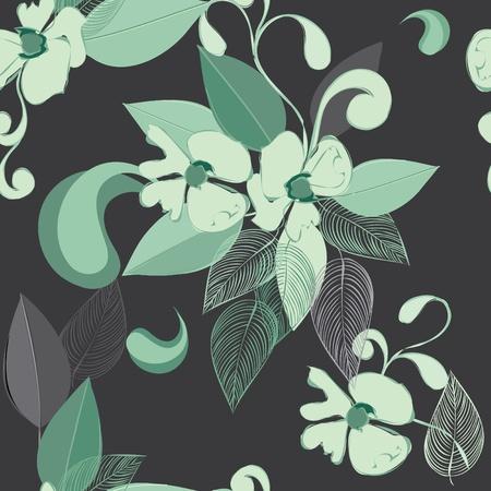 Résumé fleur de fond, seamless,