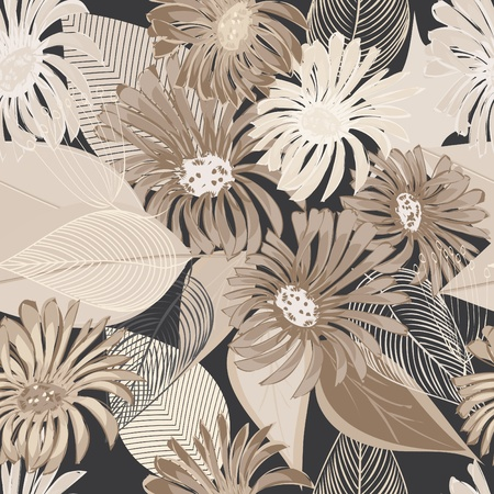 floral print: Abstract flower seamless pattern background