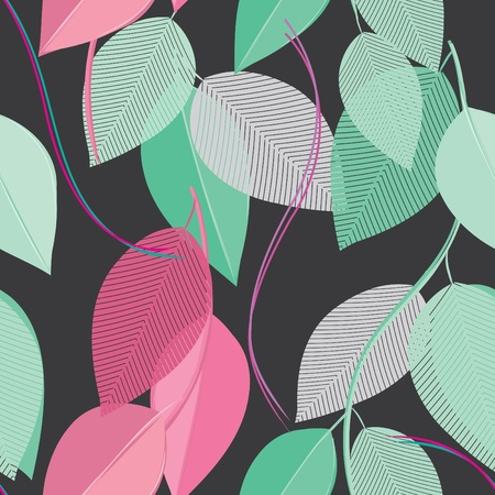 Abstract foliage seamless pattern background