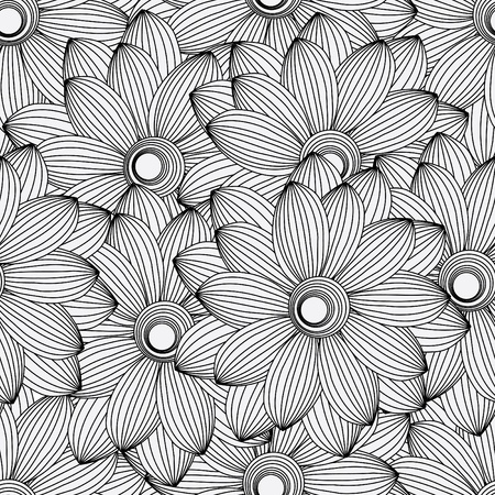 Abstract flower seamless pattern background Stock Vector - 12232083