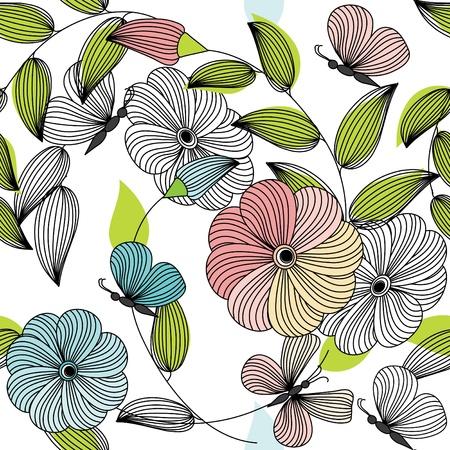 Abstract bloem naadloze patroon achtergrond