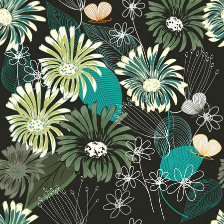 Abstract flower seamless pattern background Stock Vector - 12297403