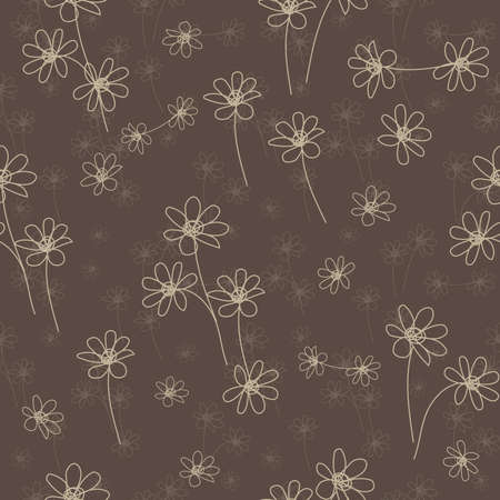 Abstract flower seamless pattern background Stock Vector - 12297404