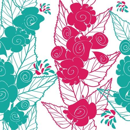 affetto: Abstract background fiore modello seamless