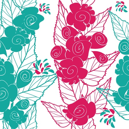 affections: Abstract flower seamless pattern background