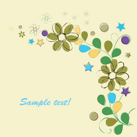 Romantic floral backgrounds Vector
