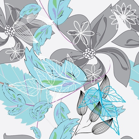 fondle: Abstract flower seamless pattern background