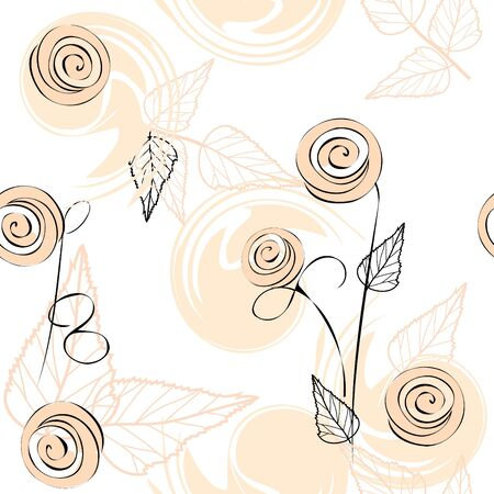 Abstract flower seamless pattern background Stock Vector - 12813020