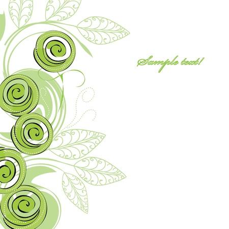 Stijlvolle groene roos achtergronden Vector Illustratie