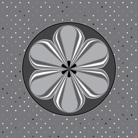 Flower backgrounds.Graphic decor symbol. Vector