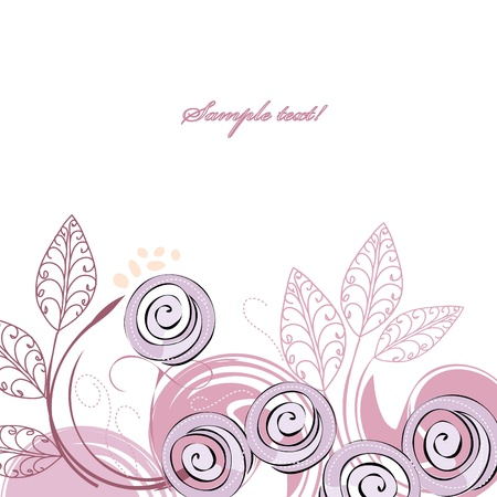 Stylish violet rose backgrounds Stock Vector - 13153318