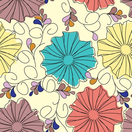 Floral seamless pattern Stock Vector - 13317357