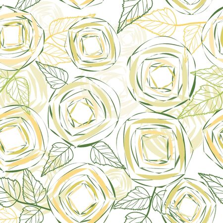 Abstract flower seamless pattern background Stock Vector - 13387830