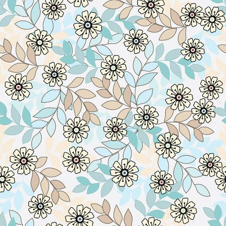 Abstract flower seamless pattern background Stock Vector - 13387833