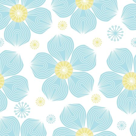 Abstract flower seamless pattern background Stock Vector - 13599843
