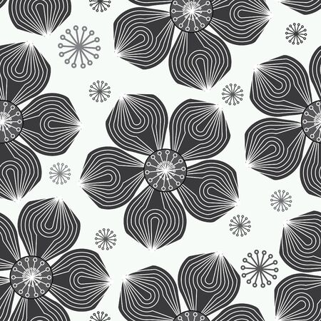 Abstract flower seamless pattern background Stock Vector - 13599851