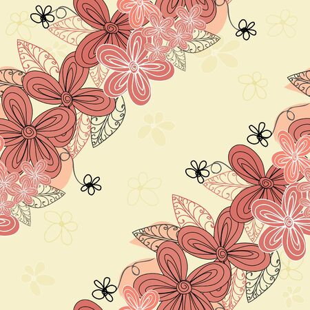 Abstract flower seamless pattern background Stock Vector - 13728763