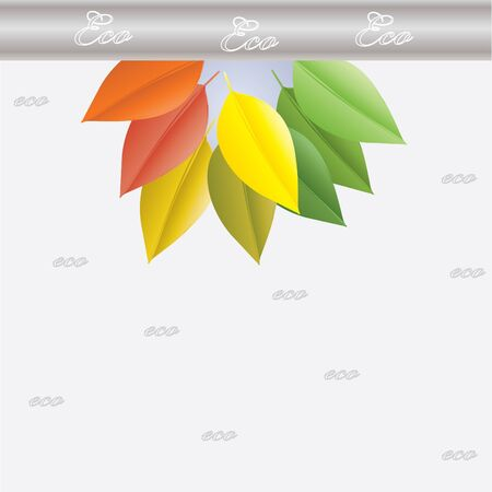 Environmental icon with eco plant Stock Vector - 13931229