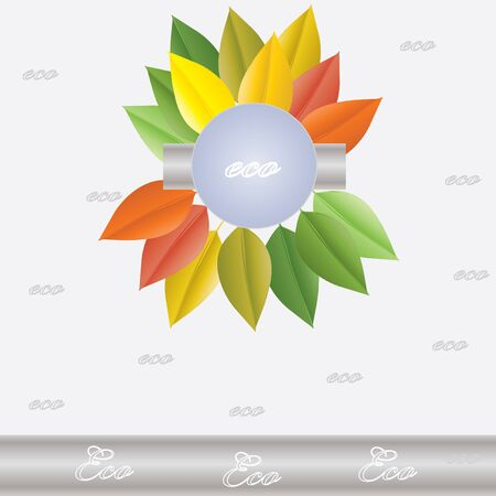 Environmental icon with eco plant Stock Vector - 13931236