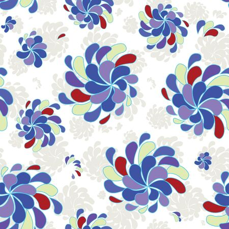 Abstract flower seamless pattern background Stock Vector - 14166957