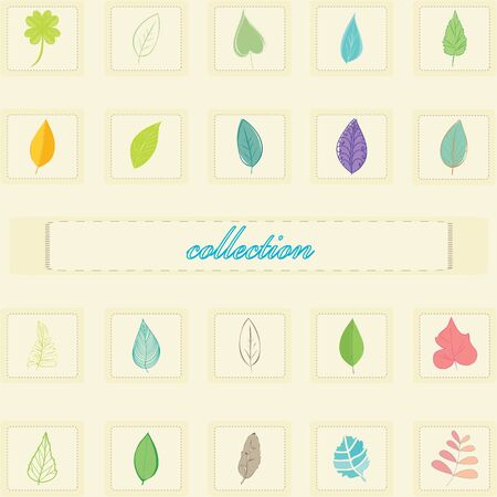 Abstract collection foliage background Vector