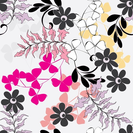 Abstract flower seamless pattern background Stock Vector - 14322438