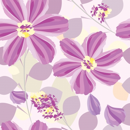 Abstract flower seamless pattern background Stock Vector - 14446007