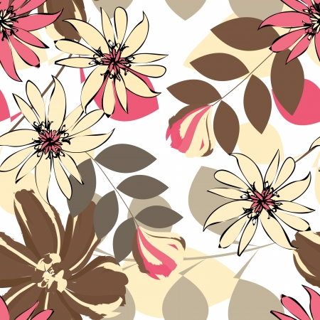 Abstract flower seamless pattern background Stock Vector - 14445984