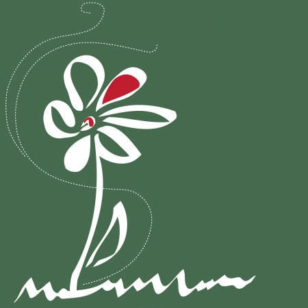dearness: Stylish flower  backgrounds.Logo. Illustration