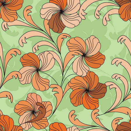 textile image: Flower background seamless pattern