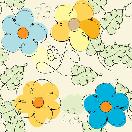 Flower background seamless pattern Vector