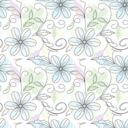 Flower background seamless pattern