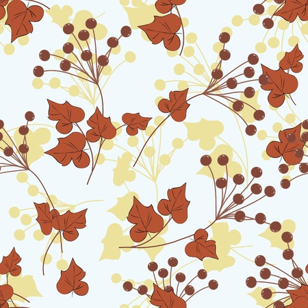 Floral seamless pattern background. Vector