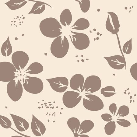 Abstract flower seamless pattern background Stock Vector - 14852893