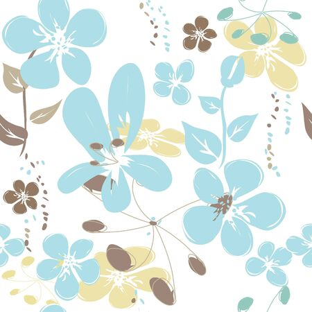 abstract floral: Abstract flower seamless pattern background
