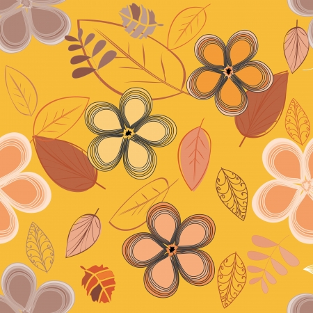 Abstract flower seamless pattern background Stock Vector - 14989159