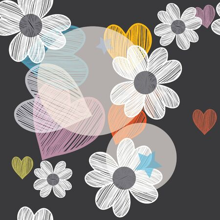 Abstract flower seamless pattern background Stock Vector - 15128263