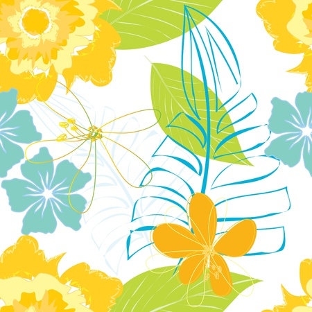 Abstract flower seamless pattern background Stock Vector - 15707789