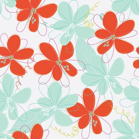 flowers background: Abstract flower seamless pattern background
