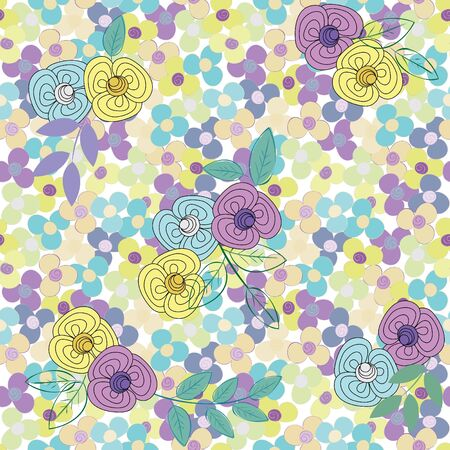 Abstract flower seamless pattern background Stock Vector - 15708084