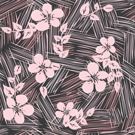 Abstract flower seamless pattern background Vector